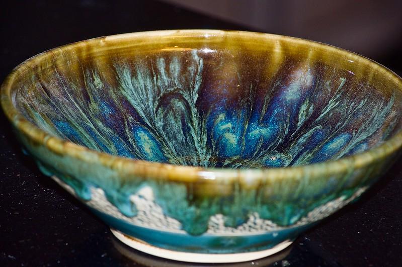 Crawling Glaze Bowl by Tom
