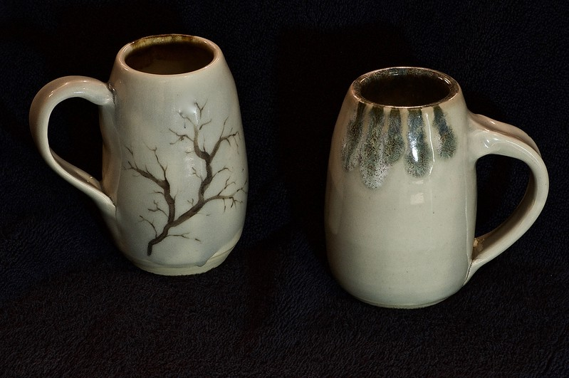 2 of my bullet shaped branch mugs