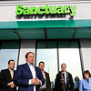 The area's first pot dispensary Sanctuary Medicinals in Gardner held its official ribbon cutting on January 4, 2019. Just before the ribbon was cut Sanctuary's CEO Jason Sidman addressed the crowd. SENTINEL & ENTERPRISE/JOHN LOVE
