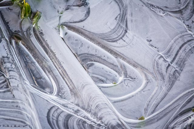4/2013:  Ice swirls in side ditch, Tipton County, Indiana
