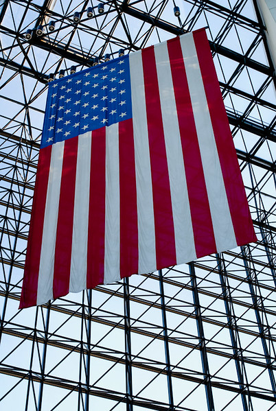 Flag at John F. Kennedy Presidential Library & Museum in Boston