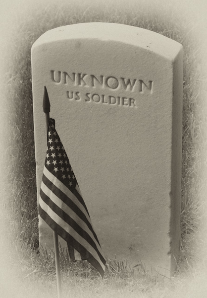 Unknown Soldier Grave at Seven Pines National Cemetery, Sandston Virginia