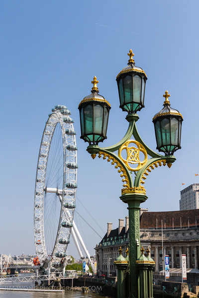 Westminster Bridge lamps, London