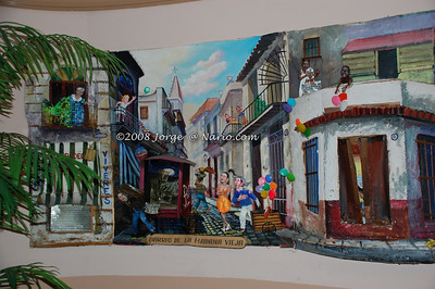 wonderful cuban artwork in Miami's La Habana Vieja restaurant