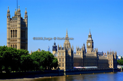 The British Parlaiment buildings and Watch Tower where Big Ben lives on.