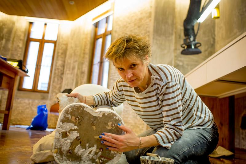 Swiss sculptor Segolene Romiere 2016 January, Shanghai