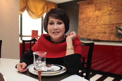 Celebrity Yue Sai Kan in her home 2011