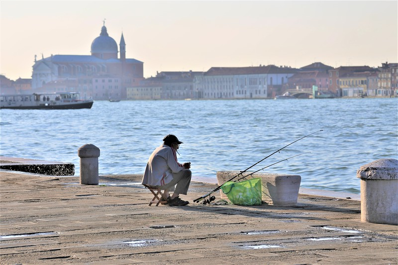 Fisherman on the Grand Canal