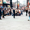 Hippies in Picadilly Circus, London, England, 1968