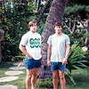 Bob Wolfe and Brent Longwell, University of Nebraska football players and coaches -  Hawaii, December 1971