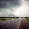 Tornado cloud near Nebraska City, Iowa side of the river - Trip to Brownsville, NE May 1975