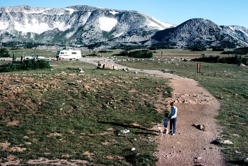Barbara, Kristy and Muffie, Snowy Range, WY - Trip to Utah and Colorado August 1975