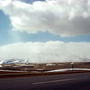 Mountains south of Elk Mountain, WY - Trip to Craters of the Moon, April 1975