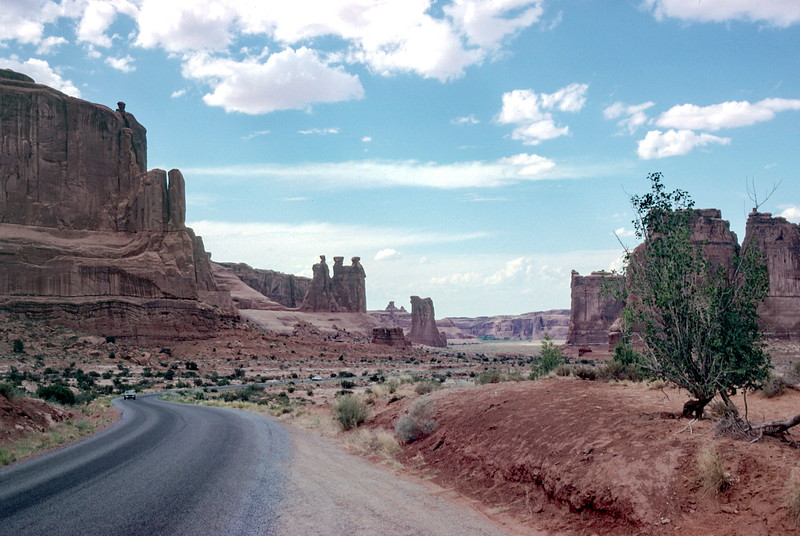 North of Park Avenue, Arches NP - Trip to Utah and Colorado August 1975