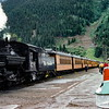 Train in Silverton - Trip to Utah and Colorado August 1975