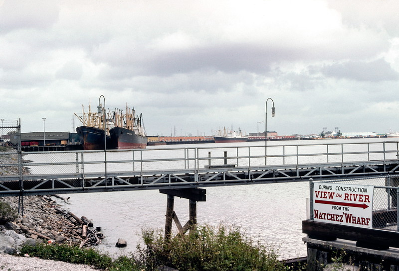 Mississippi River, New Orleans - Trip to Southeast, December 1975
