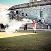 Shooting the musket in the fort, Castillo de San Marcos, St Augustine, FL - Trip to Southeast, December 1975
