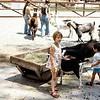 Henry Doorly Zoo, Barnyard animals, Kristy and Scott, Omaha, NE, June 1976