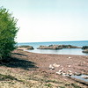 Lake Superior looking toward Canada- Trip to Michigan, May 1976