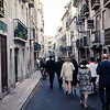 Going to diiner - a Lisbon Street, Lisbon, Portugal, 1968