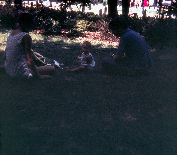 Barbara, Kristy and Bob at Mt Vernon, Virginia - August 1971