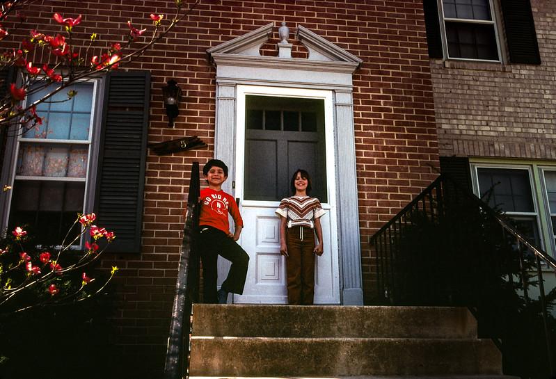 Kris and Scott, Vienna, VA. Trip to Washington, DC, April 1980