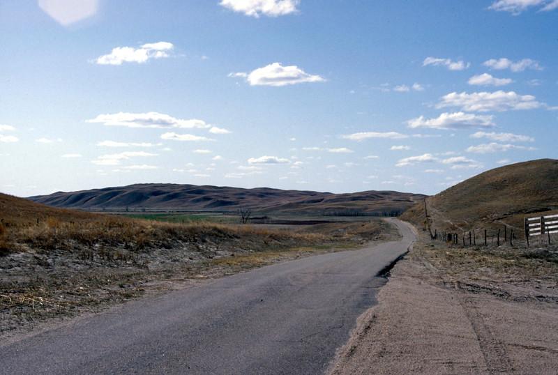 Road from Whitman, NE to ranch. Trip to Gudmundsen Ranch, Aptil 1979