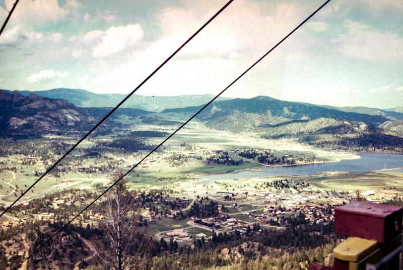 Estes Park from ski lift. Trip to Estes Park, CO, June 1979