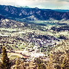 Estes Park from ski lift. Trip to Estes Park, CO, June 1979