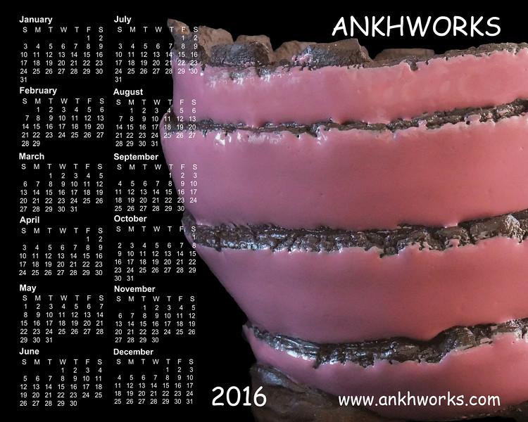 Ankhworks 2016 calendar