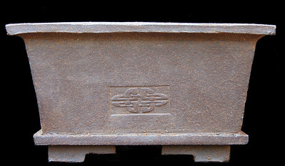 Bonsai Pot approximately 8.5 x 8.5 x 5 inches.  It is redder than it looks in the photo.  Unglazed Rio Red clay.  One of my best sold