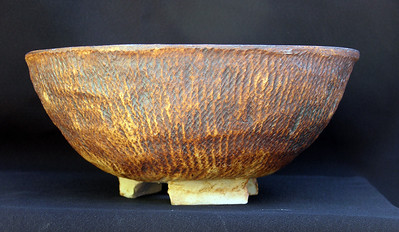 Handbuilt Stoneware with rope impressions 10 inches by 4 1/2 inches sold