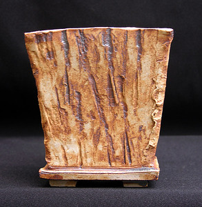 California Petrified Wood impressed stoneware 4.25 x 4.25 x 4.75 inches sold