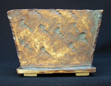 Stoneware impressed with pegmatite from Eaton Canyon  Iron Oxide  5 x 5 x 3.75 $18 sold