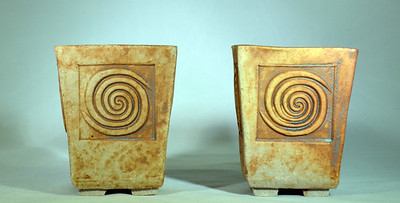 Two Square Planters 16149-50