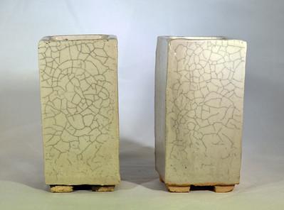 Crackle glaze with ink