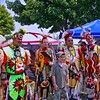 Participants with children Visiting the Pow Wow