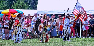 The Opening of the PowWow With The Grand Entry