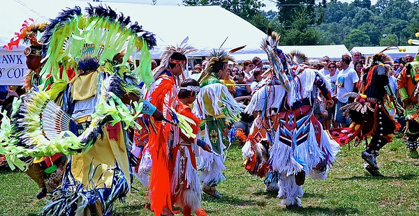 Men performing dances at the Sussex County PowWow