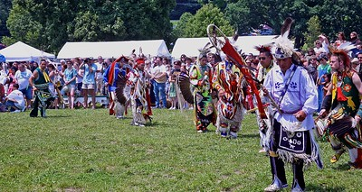 The Grand Entry Carrying the Eagle Staff into the Dance Ring