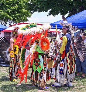 Getting ready to performThis organization is attempting to break stereptypes of native Americans by presenting they traditions.