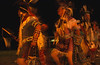 Danse rituelle réalisée à l'occasion d'un pow-wow. Réserve crow/Etat du Montana/USA