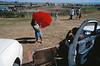Spectateurs d'un rodéo organisé à l'occasion d'un pow-wow. Réserve crow/Etat du Montana/USA