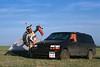 Derniers préparatifs d'un danseur avant son exhibition à l'occasion d'un pow-wow. Réserve de Fort Peck/Etat du Montana/USA