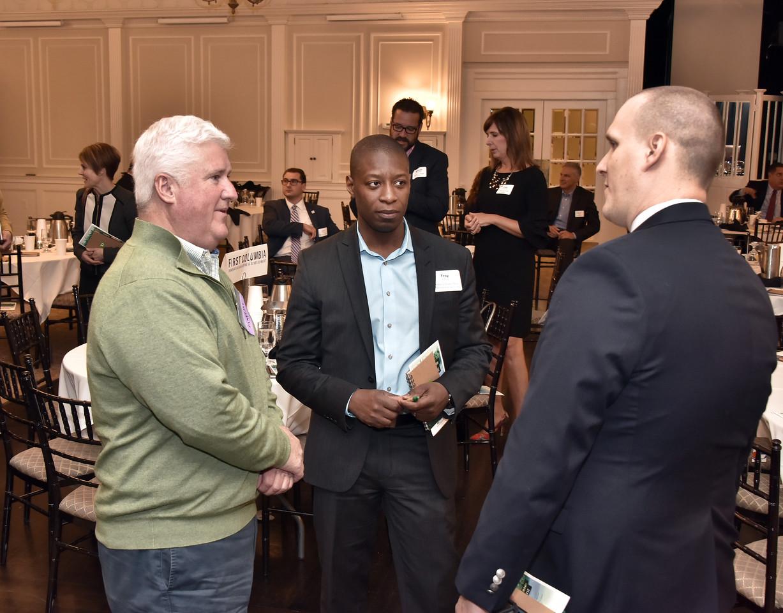 Panelist Kevin Bette, left, Troy Alfred and Dennis Binkowski