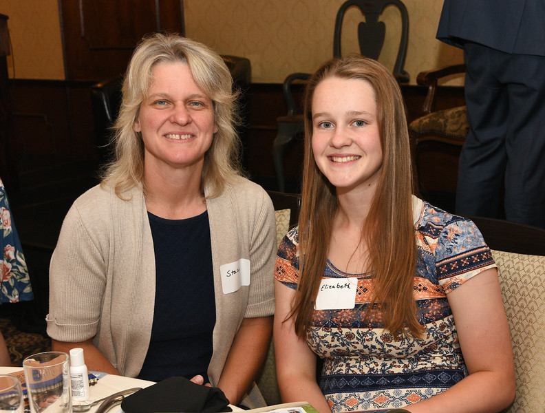 BlueShield Scholar Elizabeth Jewett from Cohoes High School, right, with her mother Stacy Jewett