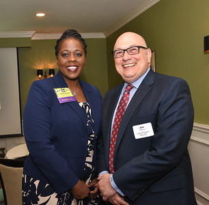 Kaweeda G. Adams, Superintendent , City School District of Albany and Joe Dragone from Capital Region BOCES