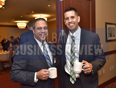 Peter Lauricella from Wilson Elser, left, and Michael Ruger from the Greenbush Financial Group