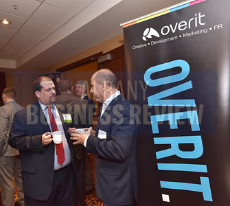 Paul Hook from Overit, left, and Michael Yevoli from Empire State Development