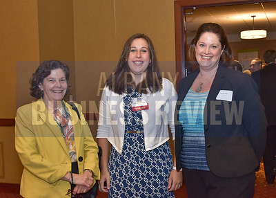 Theresa Bourgeouis from Esperance Consulting, left, panelist Colleen Costello and Kristin May from Vital Vio